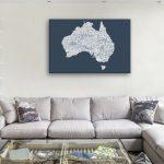 Australia-Type-Canvas-Artwork