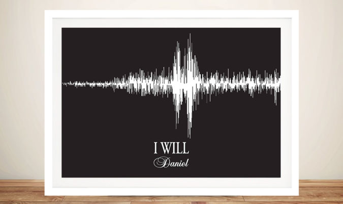 Wedding vowels Personalised Soundwave Art