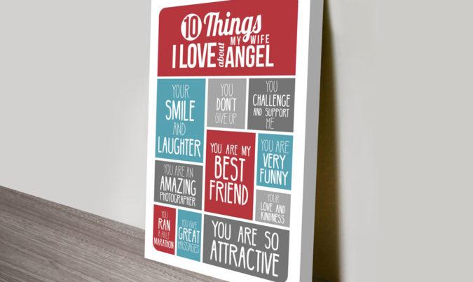 10 things i love customised art