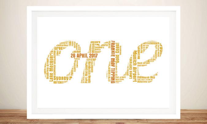 Bespoke Word Outline Framed Wall Art
