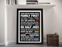 Personalised House Rules Framed Wall Art