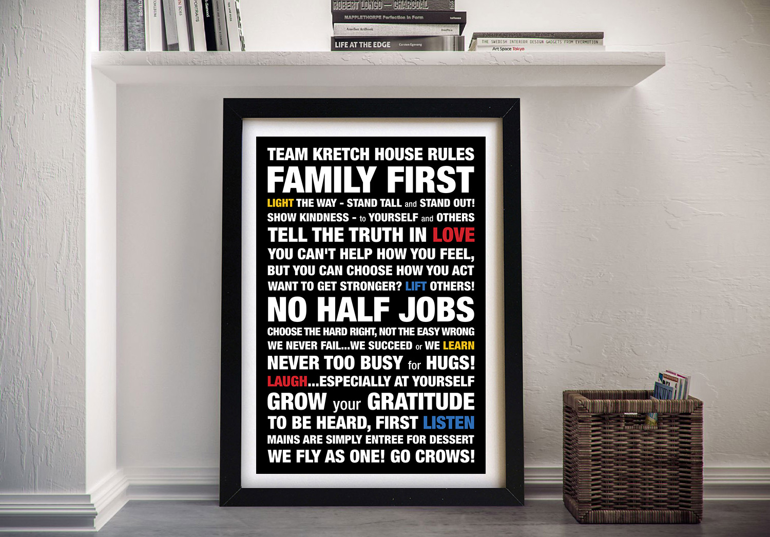 Personalised House Rules Framed Wall Art | House Rules Style 6