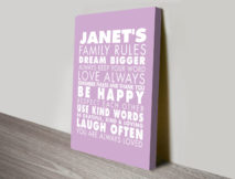 House Rules Personalised Wall Art