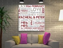 Buy Couples Canvas Print the Perfect Valentines Gift