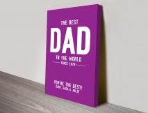 The Best Dad Gift Art