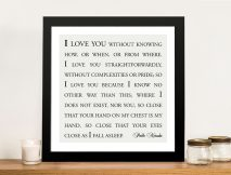 Love you straightforwardly Custom Framed Wall Art