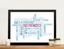 Personalised Word Cloud Memories Framed Wall Art