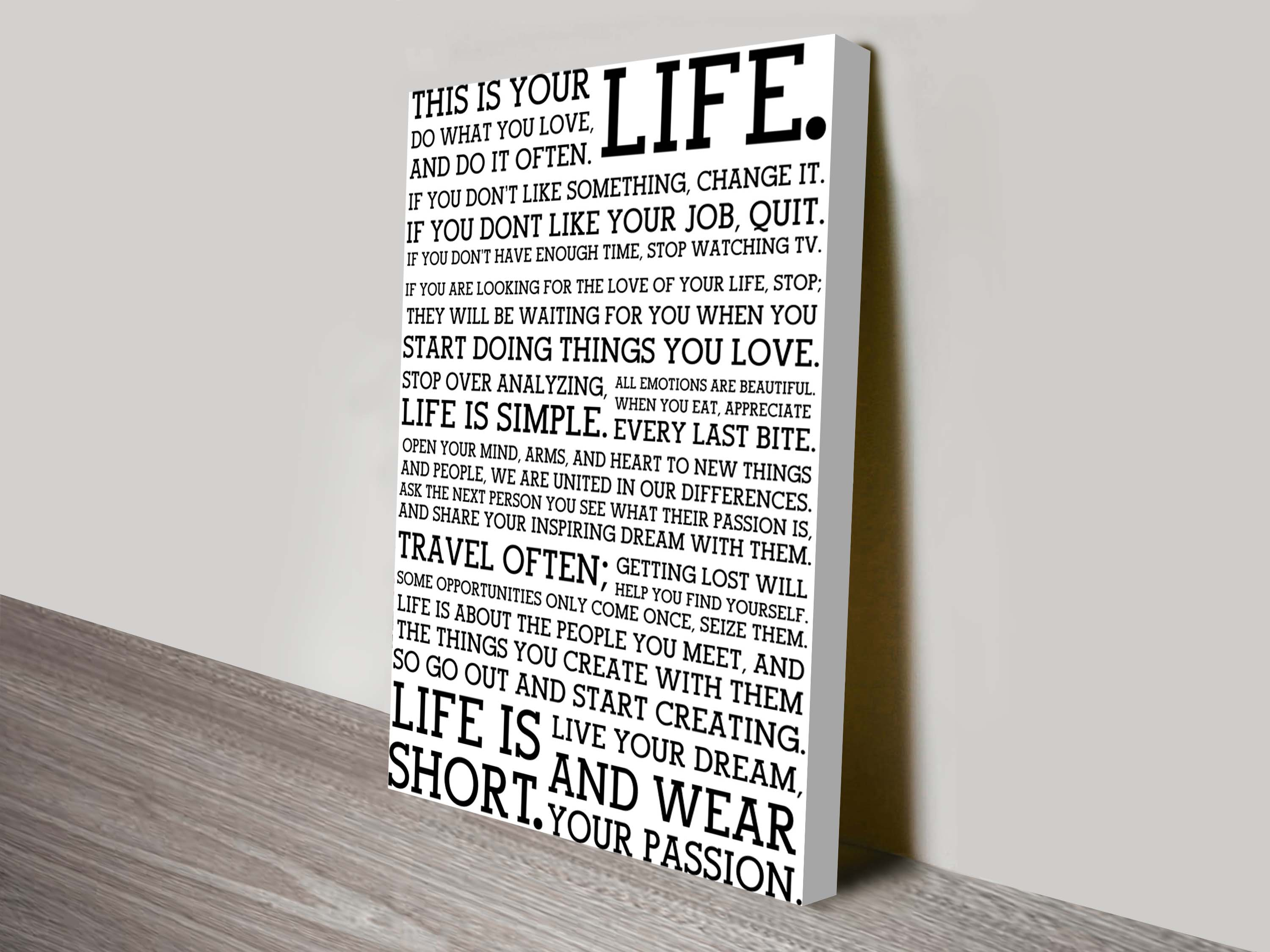 Custom Personalised Gifts Melbourne   This Is Your Life