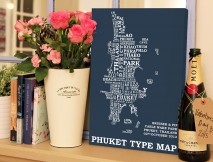 Phuket type word map
