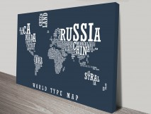 World Type Map Canvas