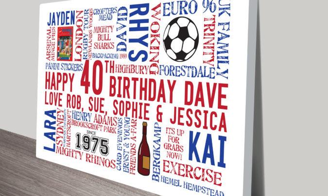 Customised Birthday Clip Art Gift