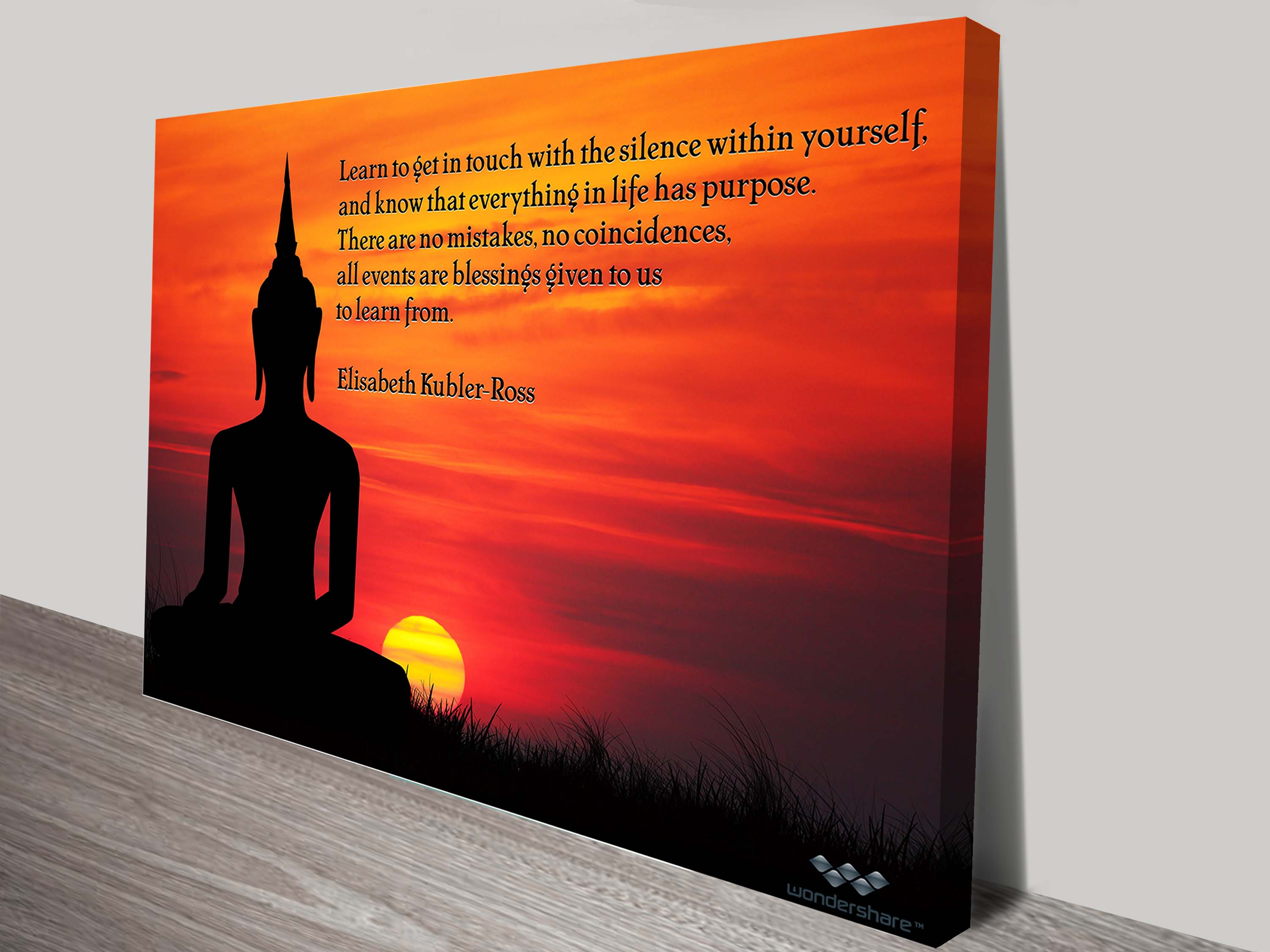 Inspiration Quote Photo Canvas | Quote On Photo Back