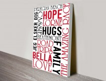 modern typographic wall art