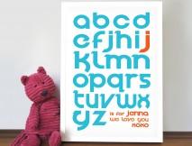 personalised Alphabet art
