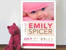 personalised baby art
