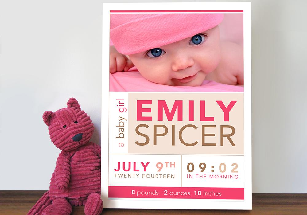 personalised baby art | Photo Word Baby Art
