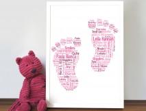 personalised baby footprint art