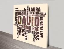 personalised photo word art