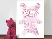 teddy bear personalised art