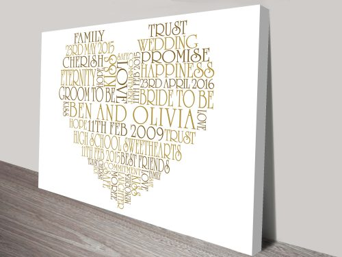 Personalised Heart Art