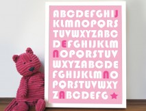 Baby Girl Alphabet Art