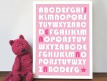 Baby Girl Alphabet Art