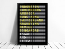 Flight Destination Board Art