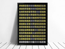 Personalised Flight Destination Sign Art