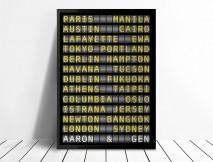 Personalised Flight Destination Sign Art