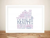 House Shape Word Art Framed Print