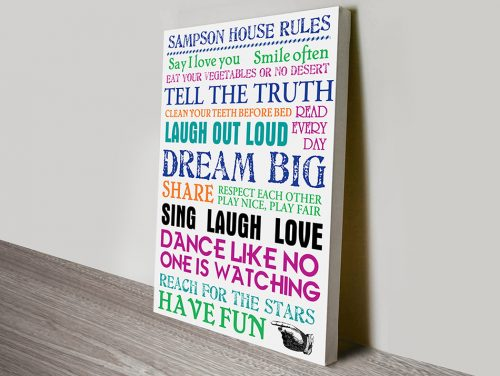 House Rules Canvas Art