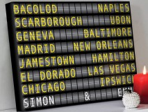 Airport Flight Destination Sign Art