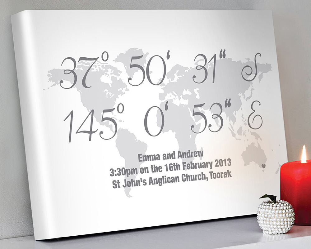 Personalised coordinates artwork | Coordinates Art Style 4