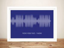 Sound wave Framed Wall Art