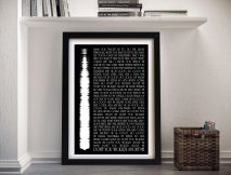 Personalised Soundwave Song Lyrics Framed Wall Art
