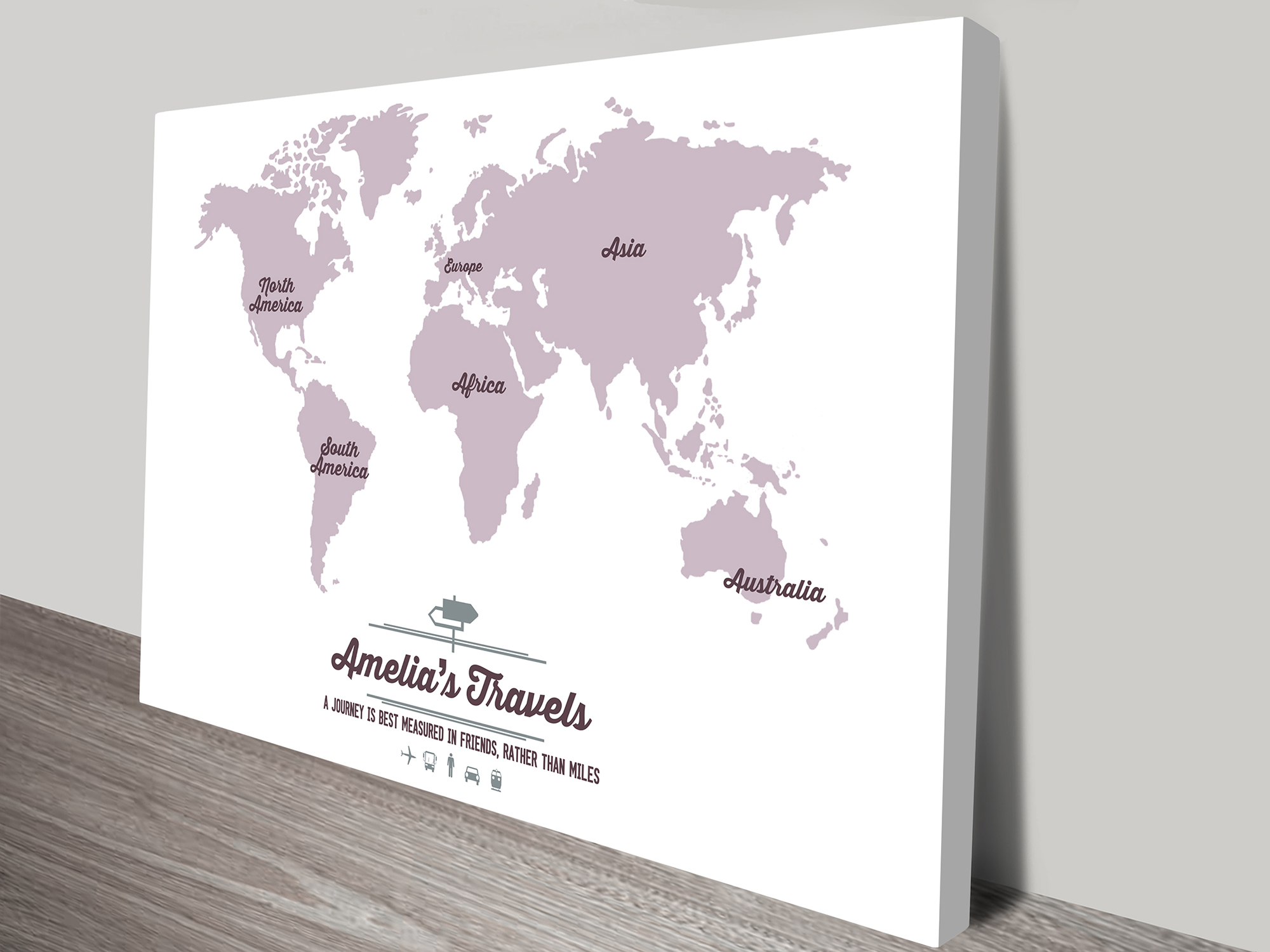 Customised Word Map Art | Our Travel Map