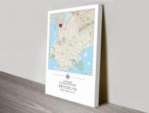 Personalised Map Art Australia