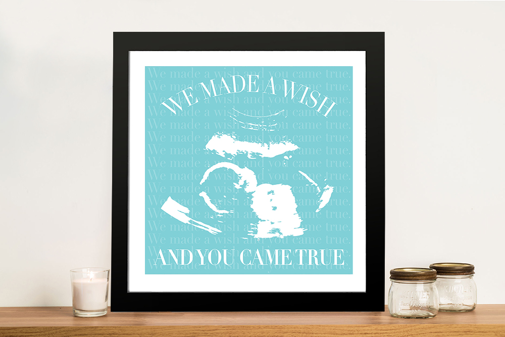 Buy New Baby Scan Personalised Wall Art   A Wish Come True