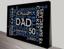 Dads Birthday Word Art