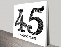 black and white numbers word art