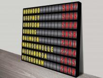 personalised airport destination board art