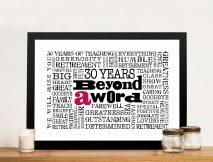 Corporate Logo Personalised Word Cloud Art