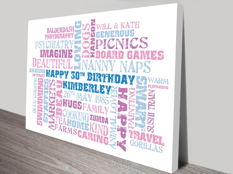 Birthday Word Art Clusters   Birthday Clusters