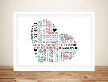 Personalised Heart Framed Wall Art