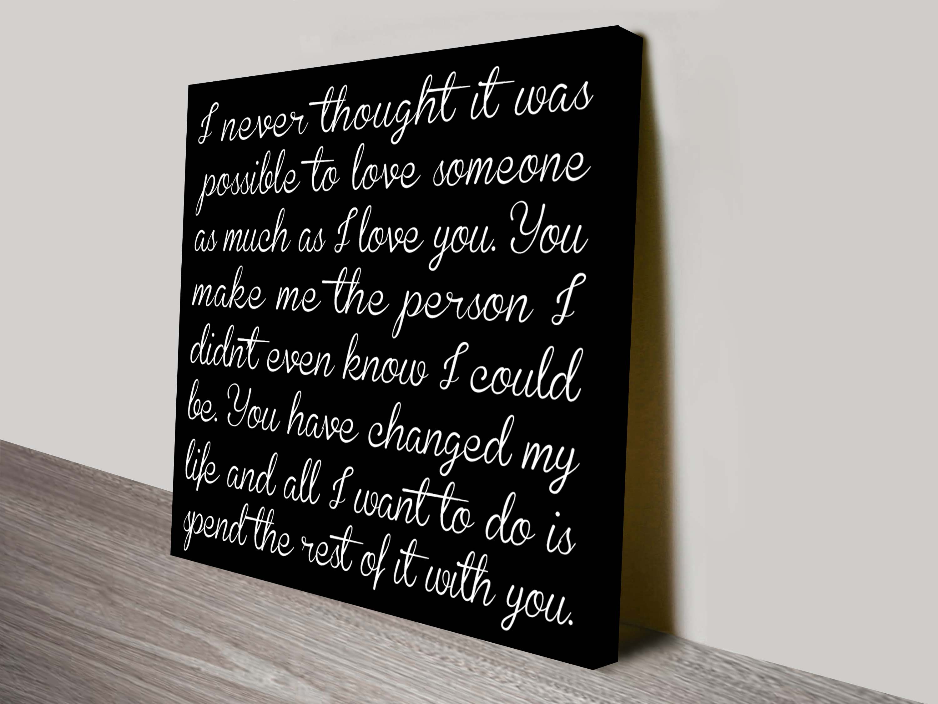Bespoke Poem and Quotes Canvas Wall Art   Poems & Rhymes Style 11