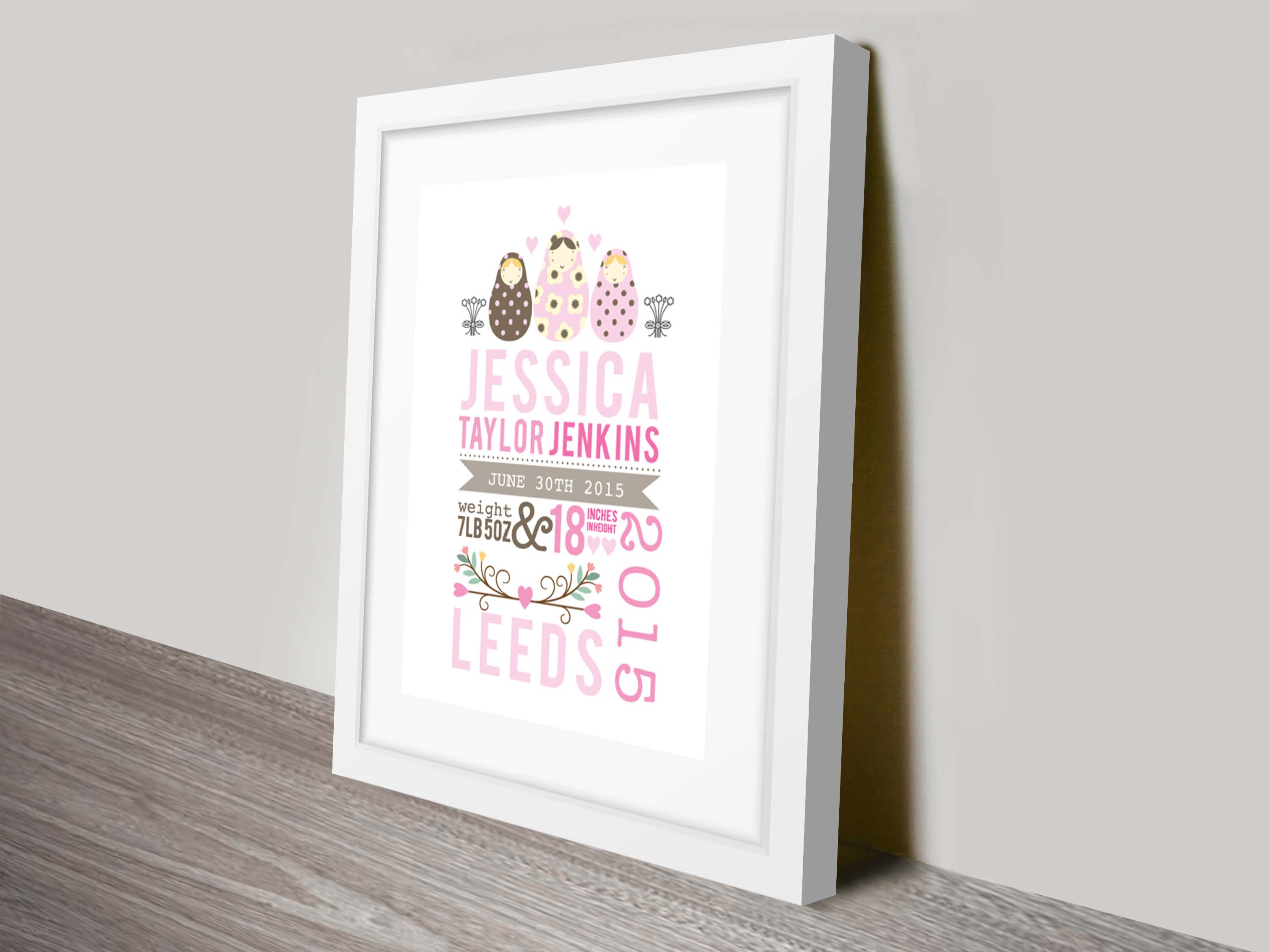 Personalised New Baby Gift Idea | New Born Baby