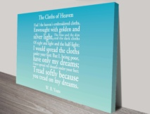 Personalised poem canvas print