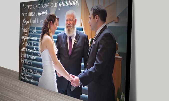 Wedding Photo Word Art Gift