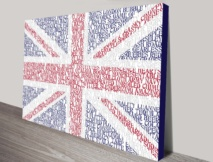 UK Flag Custom word art