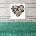 Custom Heart Shaped Photo Collage Art
